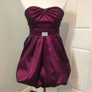 Magenta cocktail dress formal prom homecoming